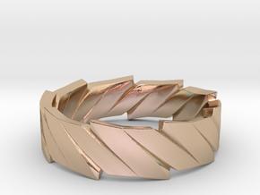 Rift Ring in 14k Rose Gold Plated Brass: 8 / 56.75