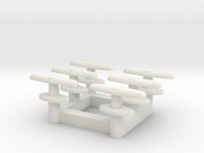 Door Latches - Multiples in White Natural Versatile Plastic