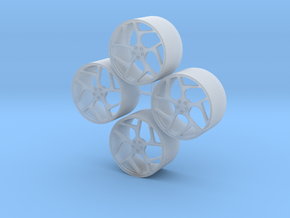 20'' Vossen CG-205t wheels in 1/24 scale in Smooth Fine Detail Plastic