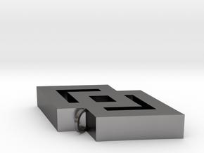 Epa Pendant in Polished Nickel Steel