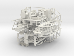 Handling Tower for Moon Pool seabex one in White Natural Versatile Plastic: 1:75