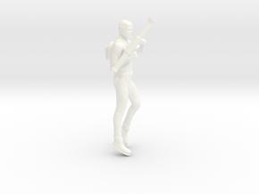 Jonny Quest Race Bannon with Bazooka in White Processed Versatile Plastic