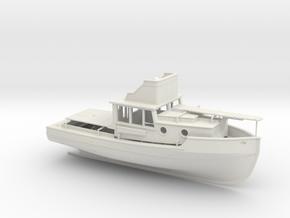 Orca, Part 1 of 2 in White Natural Versatile Plastic: 1:75