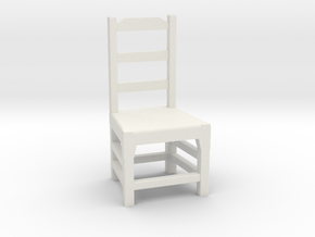 1:48 Simple Dining Chair in White Natural Versatile Plastic