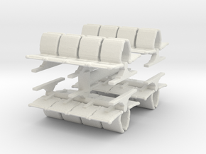 8 Waiting Room Seats (x4) 1/120 in White Natural Versatile Plastic