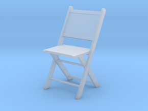 1:48 Wooden Folding Chair in Smooth Fine Detail Plastic
