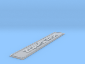 Nameplate Sopwith Camel (10 cm) in Smoothest Fine Detail Plastic