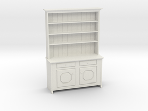 1:48 Irish Hutch Cabinet in White Natural Versatile Plastic