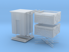 Two small english style H0 water tanks in Smooth Fine Detail Plastic: 1:87 - HO