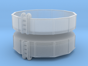 15ft Swimming Pool (x2) 1/200 in Smooth Fine Detail Plastic