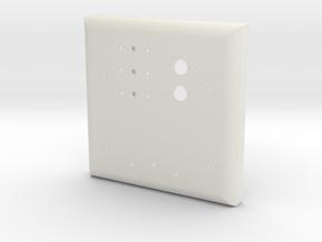 Chest Plate Esb Shell in White Natural Versatile Plastic