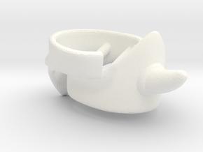 Ollo Knee Guards VINTAGE in White Processed Versatile Plastic
