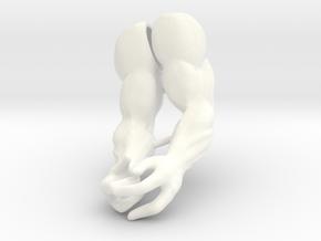Gaze-Man Arms VINTAGE in White Processed Versatile Plastic