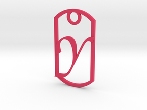 """Y"" key fob in Pink Strong & Flexible Polished"