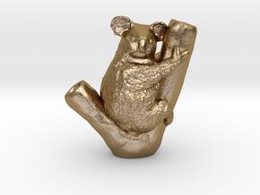 Koala Pendant in Polished Gold Steel