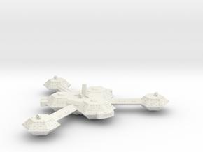Omni Scale Kzinti Augmented Battle Station SRZ in White Natural Versatile Plastic