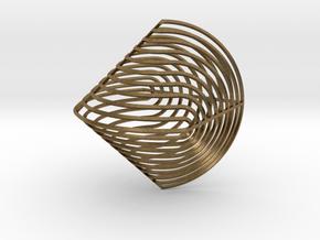 Sphericon Z in Natural Bronze