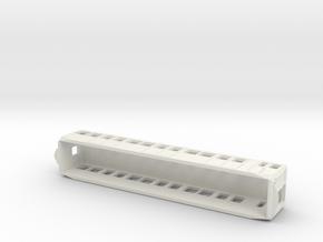 Carcasa S2000 Metro Madrid escala H0 Tomas de aire in White Natural Versatile Plastic