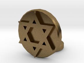 Star of David in Natural Bronze