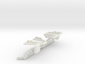 Hexapoddy-shapeways 17 Onepart in White Natural Versatile Plastic