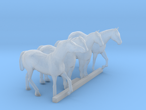 N Scale Horses 4 in Smooth Fine Detail Plastic