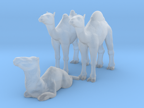 O Scale Camels in Smooth Fine Detail Plastic