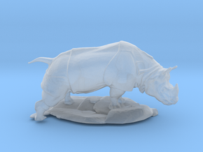 S Scale Rhino in Smooth Fine Detail Plastic