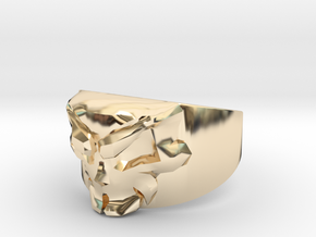 Skull Ring Size 11.5 in 14K Yellow Gold