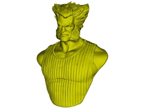 1/9 scale X-Men James 'Wolverine' Howlett bust in Smooth Fine Detail Plastic