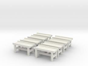 Roller Conveyor (x8) 1/87 in White Natural Versatile Plastic