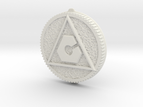 LC Morph Coin - Red Turbo in White Natural Versatile Plastic