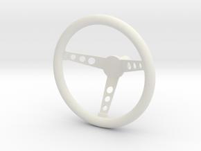 Grant 3 Spoke Steering Wheel in White Natural Versatile Plastic