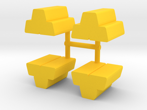 Metal Ingots Meeple, 4-set in Yellow Processed Versatile Plastic