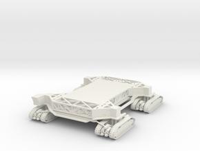 1:285 Miniature NASA Crawler Transporter in White Natural Versatile Plastic: 1:182.88