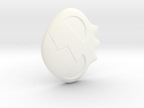 Yoko Skull Hair Clip in White Processed Versatile Plastic