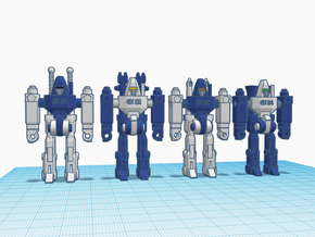 Guardian GoBots Human RoGunners in Blue Processed Versatile Plastic