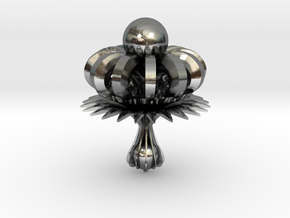 Gothic Chandelier Earing in Polished Silver