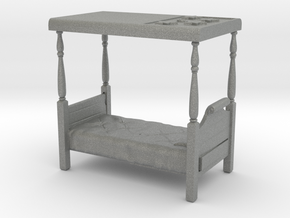 O Scale Four Poster Bed in Gray PA12