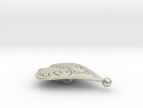 Frozen - Anna's Cloak Clasp - 1 of a pair in 14k White Gold