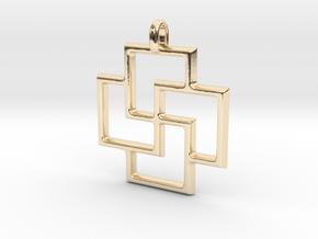 Tursaansydan Jewelry Symbol Pendant in 14K Yellow Gold