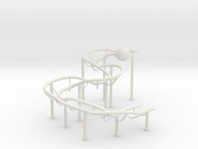 Rolling Ball Sculpture in White Natural Versatile Plastic