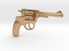 Nagant M1895 Revolver (⅓ scale) in Polished Bronze