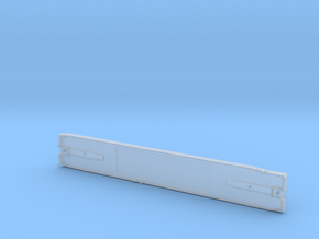 DODX Flatcar - Smooth Deck (Separate Part) in Smooth Fine Detail Plastic