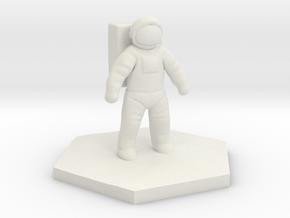 Basic Astronaut hex base figure in White Natural Versatile Plastic