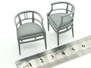 Chair 15. 1:24 Scale  in Smooth Fine Detail Plastic