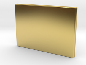 Culture Touch Plate Lid in Polished Brass