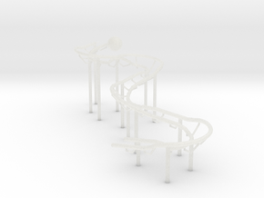 Very Small RBS Rolling Ball Sculpture Marble Run in Smooth Fine Detail Plastic