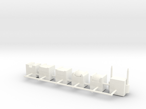 Heads for Aerialbot Kreons (Set 2 of 2) in White Processed Versatile Plastic