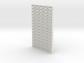Cinder Block Loose 75 Pack 1-72 Scale in White Natural Versatile Plastic
