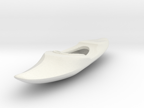 HO Scale Kayak in White Natural Versatile Plastic
